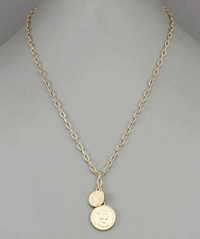 Coin Disc Necklace
