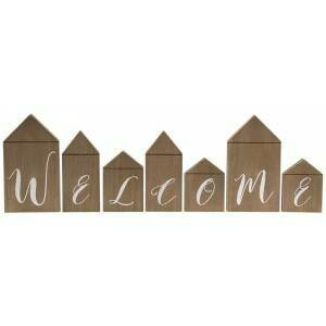 Welcome Wood House Blocks