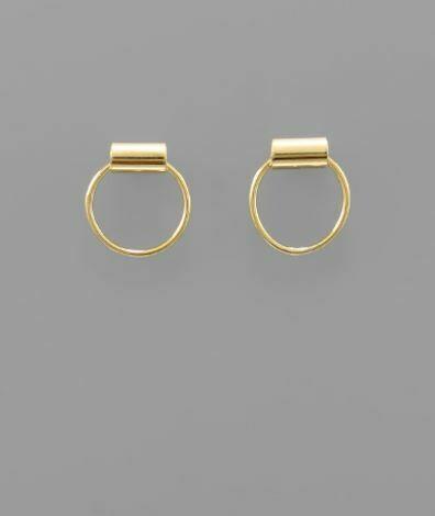Mini Circle Brass Studs