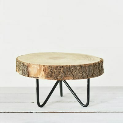 Short Wood Slice Stand