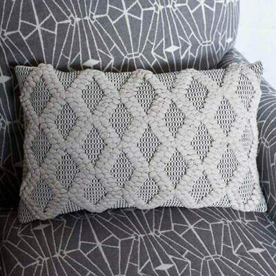 Black & Neutral Rectangle Pillow