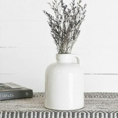 White Handled Ceramic Vase