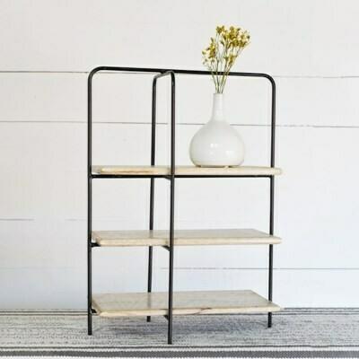 Rectangle 3 Shelf Wood Display