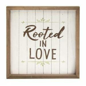 Rooted In Love Framed Sign