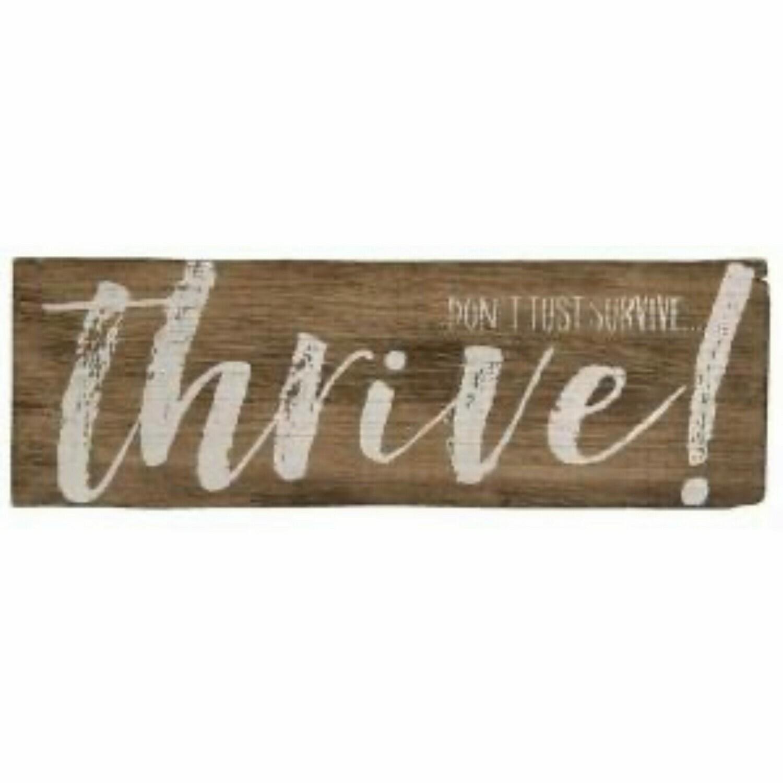 Thrive Wood Sign