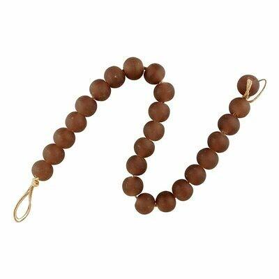 Mauve Glass Beads
