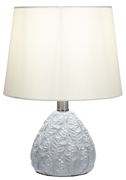 Gray Cement Leaf Lamp