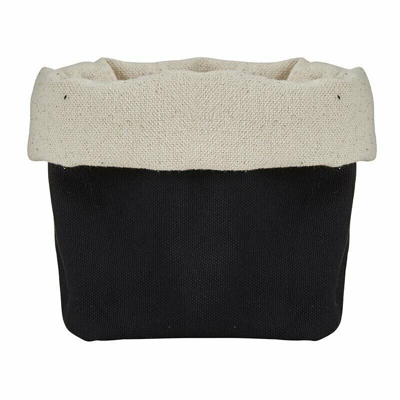 Natural & Black Linen Pouch