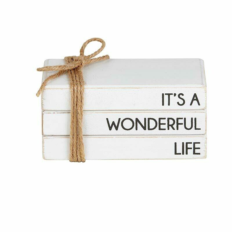Wonderful Life Wooden Bookstack