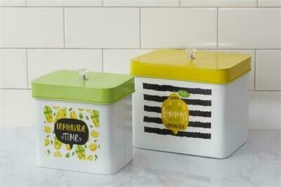 Striped Lemon Container