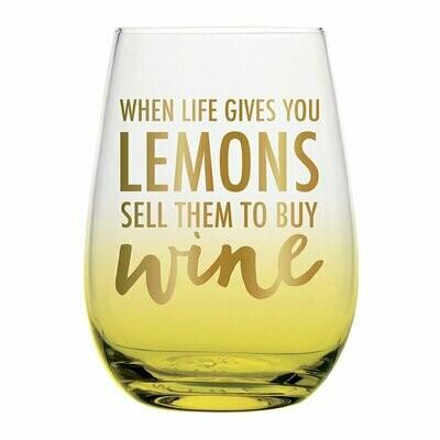 Lemons Wine Glass