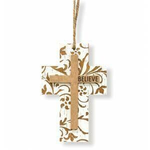 Believe Cross Ornament