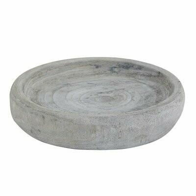 Gray Paulownia Wood Bowl