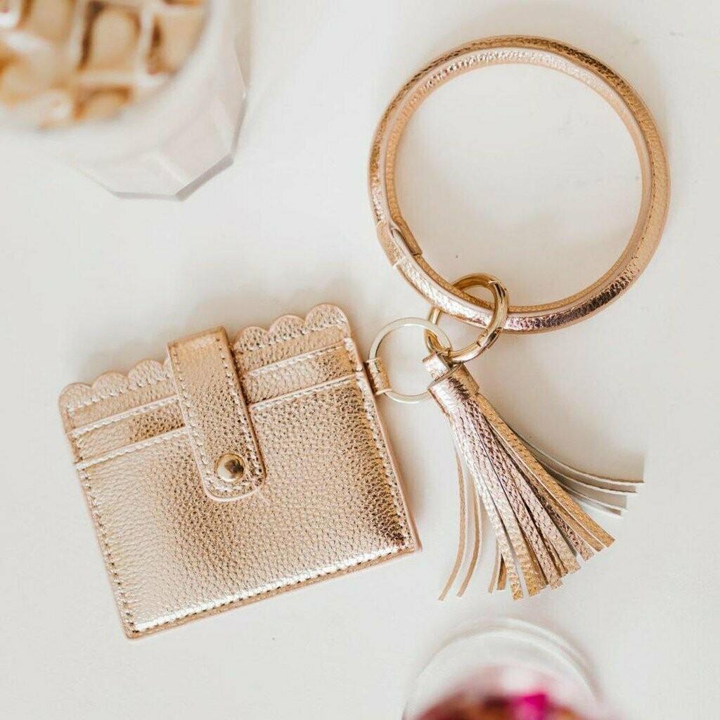 Rose Gold Keychain Wallet