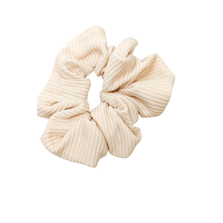 Lightweight Cream Scrunchie