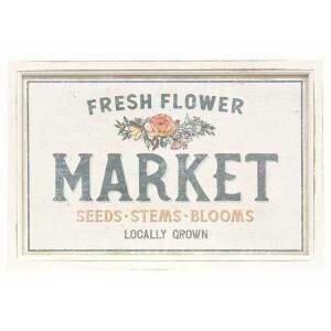 Rectangle Fresh Flower Market Sign