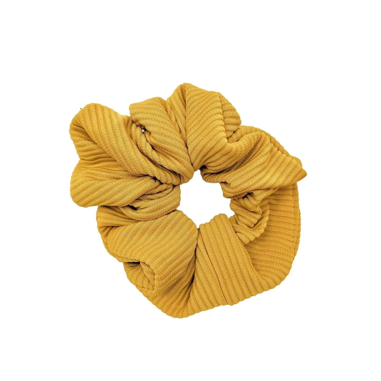 Lightweight Mustard Scrunchie