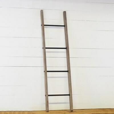Wood & Metal Rung Blanket Ladder