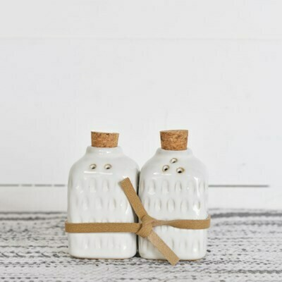 Square Glazed S&P Shakers