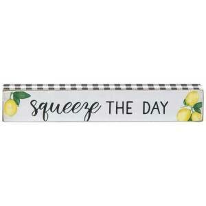 Squeeze the Day Skinny Wood Block