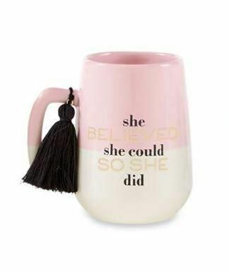 She Believed Tassel Mug