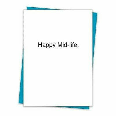 Happy Mid-life Card