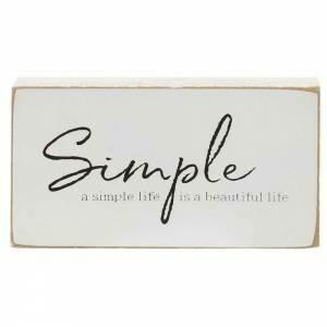 Simple Life Wood Block
