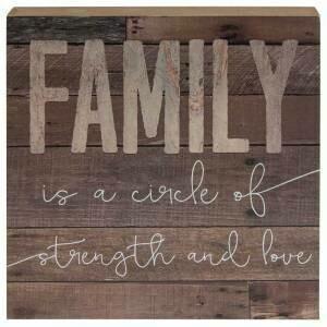 Family Circle Box Sign