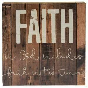 Faith in God Box Sign