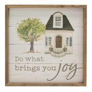 Brings You Joy Framed Sign
