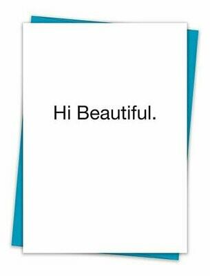 Hi Beautiful Card