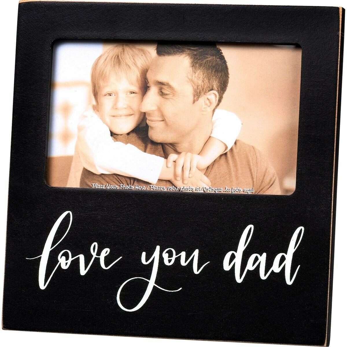 Black Love You Dad Frame