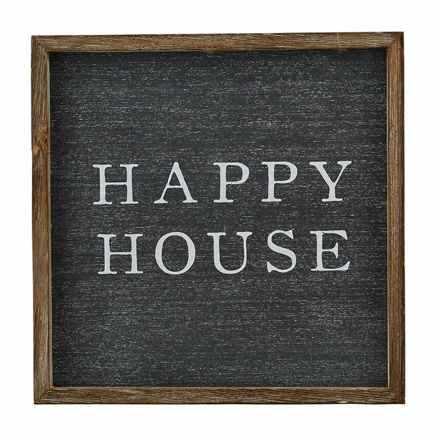 Happy House Wood Sign
