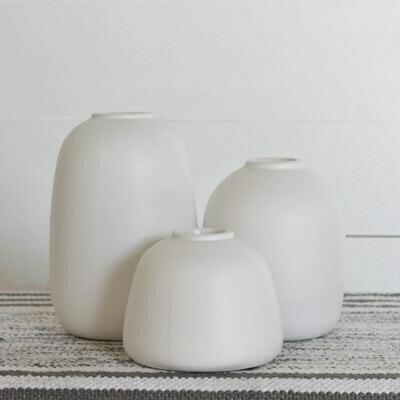 Lg Smooth White Vase