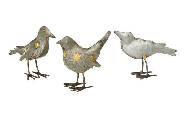 Metal Gold Accent Bird
