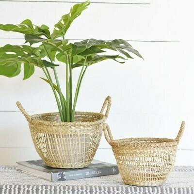 Lg Round Handled Seagrass Basket
