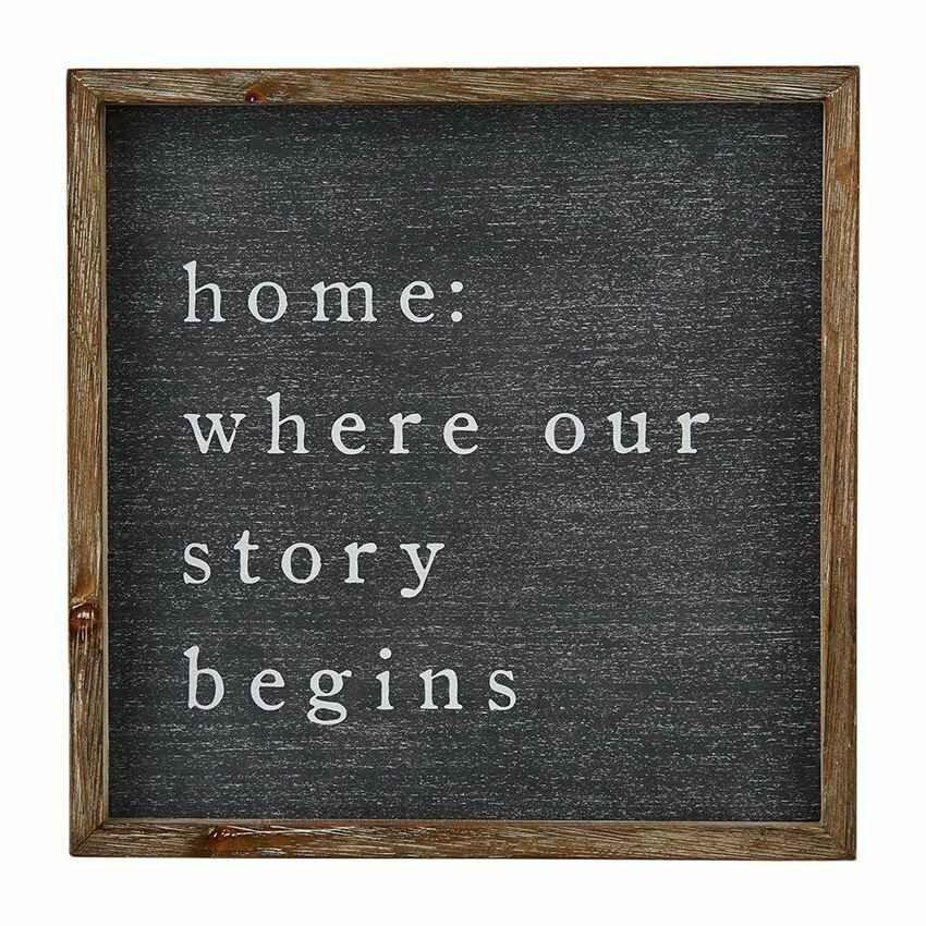 Where Our Story Begins Wood Sign