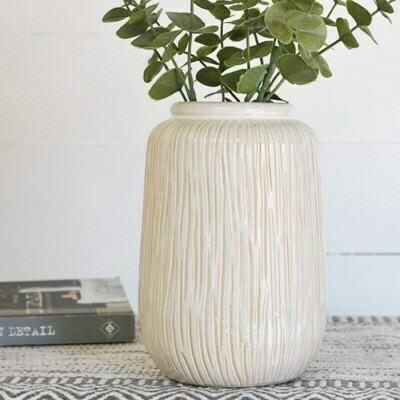 Med Line Pattern Vase