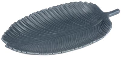 Lg Denim Feather Trinket Tray