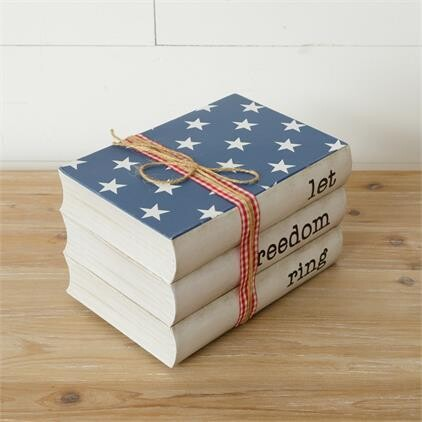 Let Freedom Ring Stamped Books