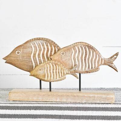 Carved Fish Tabletop Stand
