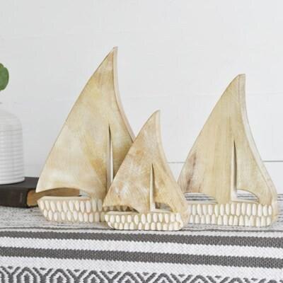 Lg Wood Sailboat