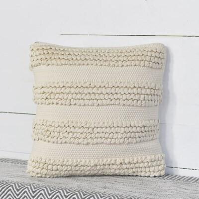 Cream Dot Stripe Pillow