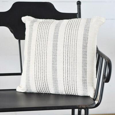 Gray Striped Pillow