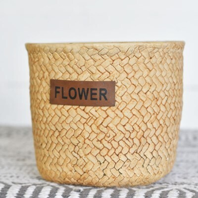 Lg Cement Flower Planter