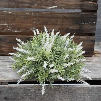 White Flower Half Orb