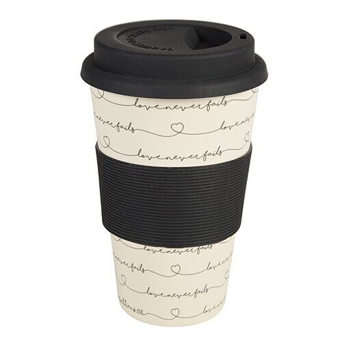 Love Never Fails Bamboo Cup