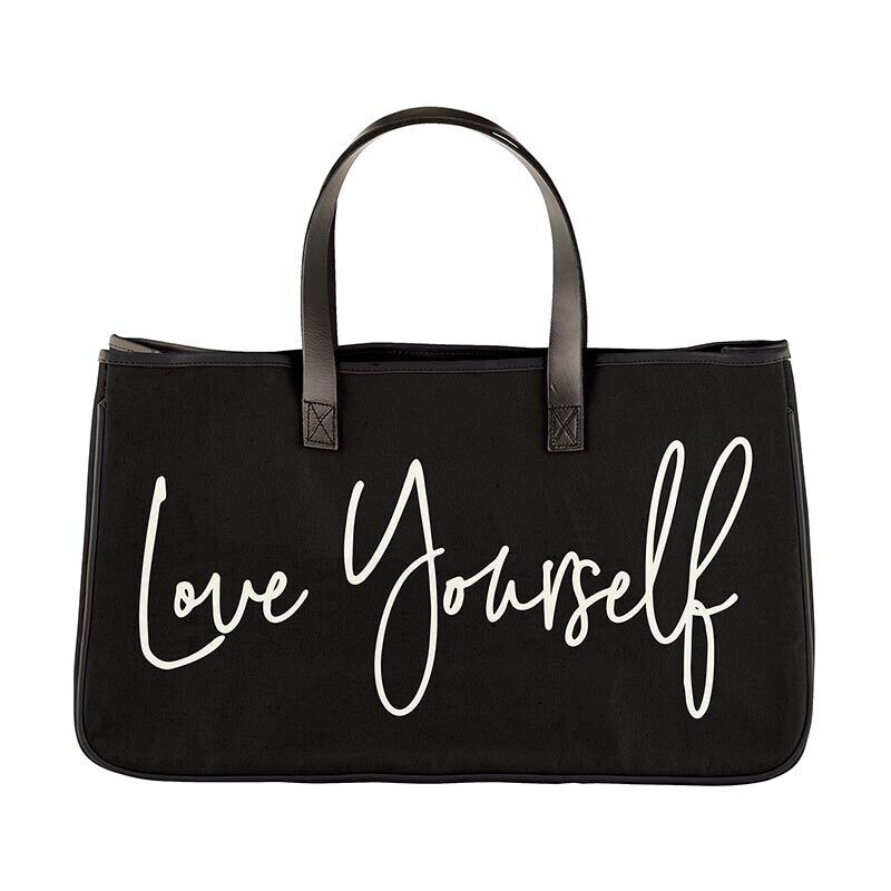 Love Yourself Canvas Tote