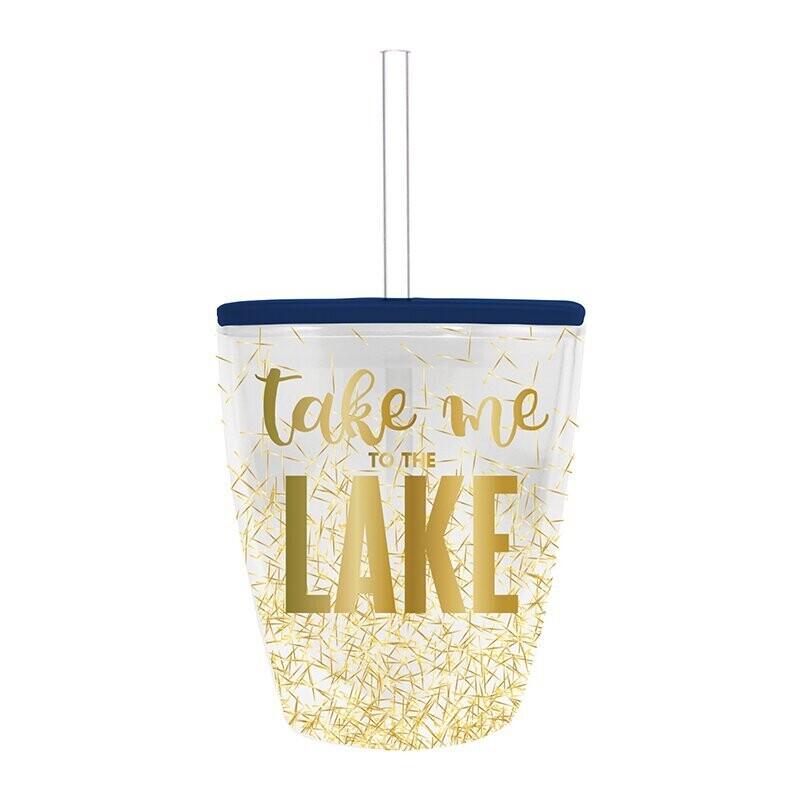 Glitter Lake Tumbler