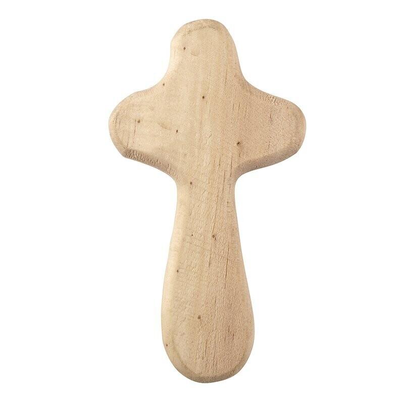 Natural Handheld Wood Cross